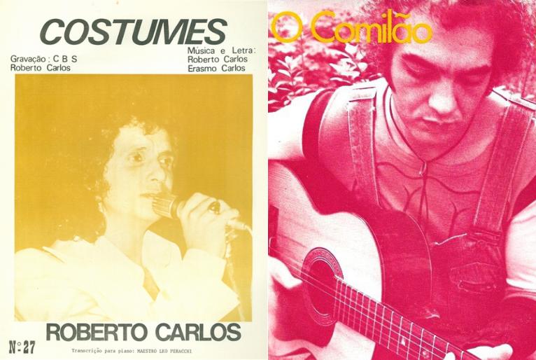 Capa dos álbuns Roberto Carlos - Costumes/Erasmo Carlos – O Comilão