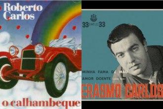"""Capa dos álbuns """"O Calhambeque"""" e gravação"""