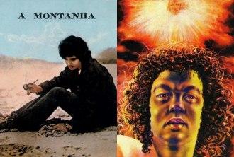 """Capa dos álbuns """"Roberto Carlos - A Montanha"""" e  """"1990 Projeto Salva Terra"""""""