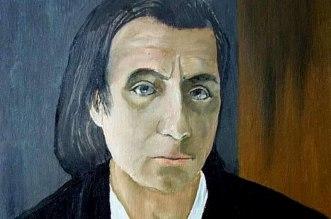 Retrato em óleo de Alfred Schnittke