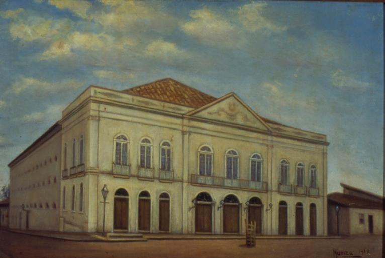 Tela de Maria Luiza Pompeu 1920 (Museu Paulista)
