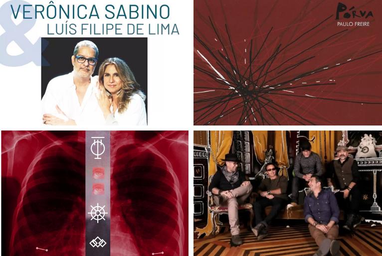 """Capa dos álbuns """"Meu laiaraiá – ao vivo"""", """"Pórva"""", """"Fratura exposta"""