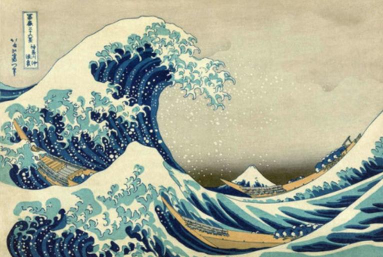Gravura de Katsushika Hokusai/ Reprodução da Internet