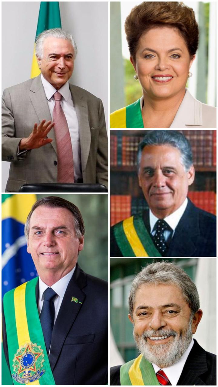 Últimos 10 presidentes do Brasil e seus partidos