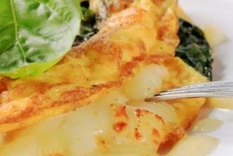 Receita de omelete com cogumelos